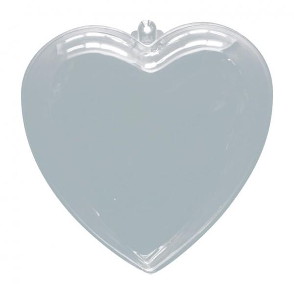 Herz, Ø 10cm, Kunststoff, 2 Hälften, zum Befüllen