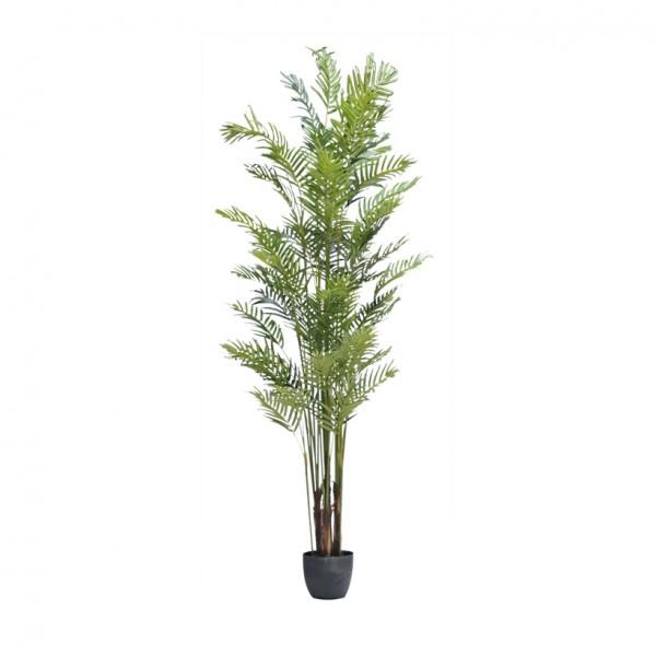 Parlor Palme, 210cm, 10-fach, 1290 Blätter aus Kunstseide, im Topf
