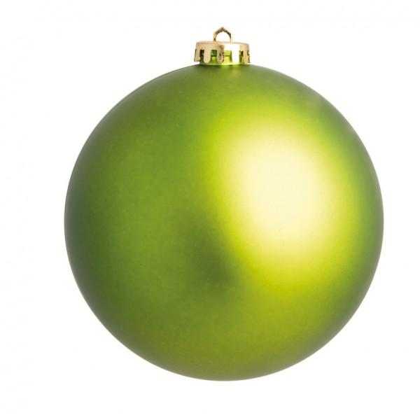 Weihnachtskugeln, hellgrün matt, Ø 8cm, 6 St./Blister