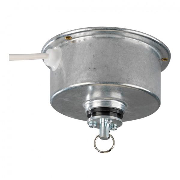 Hängedrehbühne, 4 Watt, 2,5 U/Min., 2m Zuleitung, Ø 13cm, max.5kg Tragkraft, mit Schlüsselring, TÜV