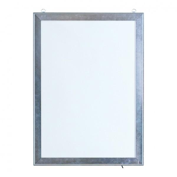 LED Klapprahmen, Maße innen: 38,5x55,7cm Maße außen: 45x62cm, DIN A2, vorne 4-fach zu öffnen, Hochf