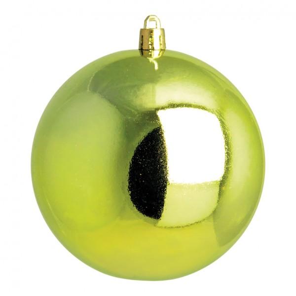 Weihnachtskugel, hellgrün glänzend, Ø 14cm
