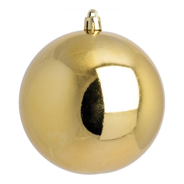 Weihnachtskugel, gold glänzend, Ø 14cm