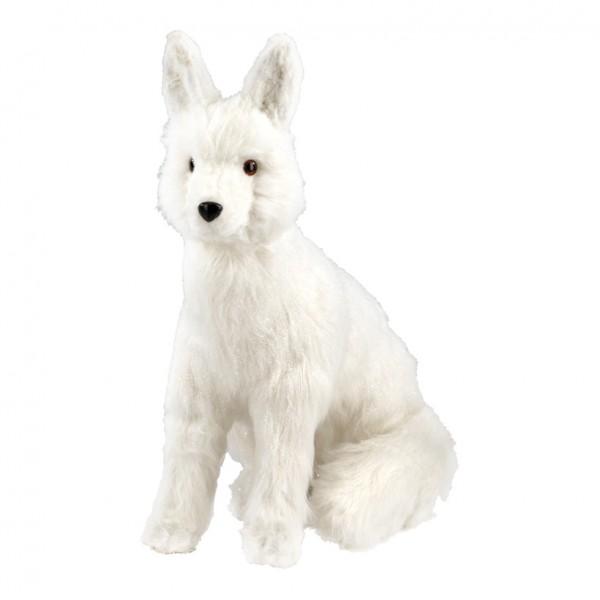 Fuchs, sitzend, 56x50cm, Styrofoam mit Kunstpelz