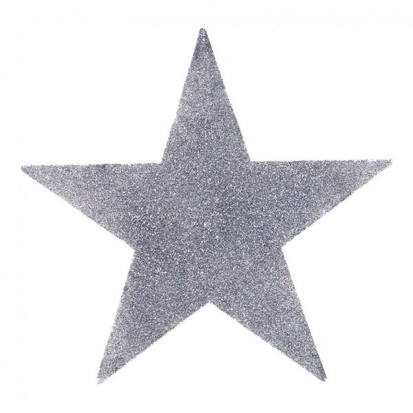 Stern, Ø 20cm, Kunststoff, mit Glitter