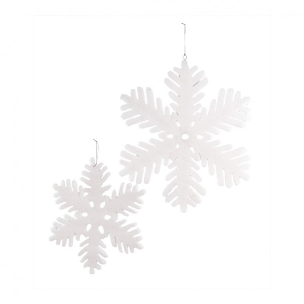 Schneeflocke, 60cm, Styropor, beflockt