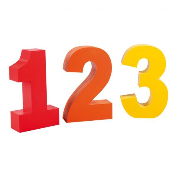 Zahlen 123, 50x30cm, Styropor