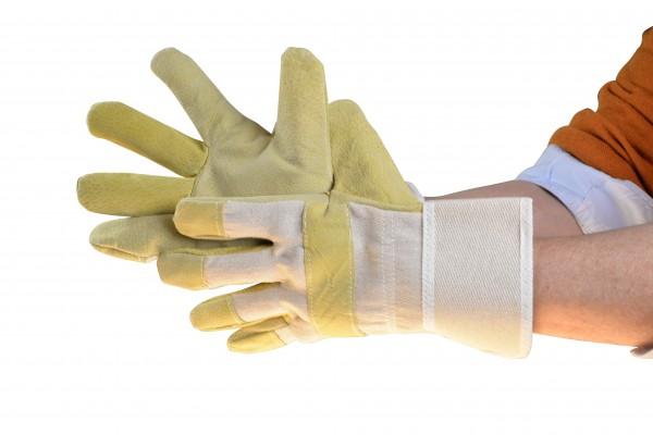 Stoff-Leder-Handschuhe