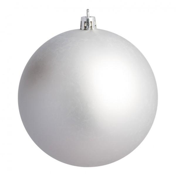 Weihnachtskugeln, silber matt, Ø 8cm 6 St./Blister
