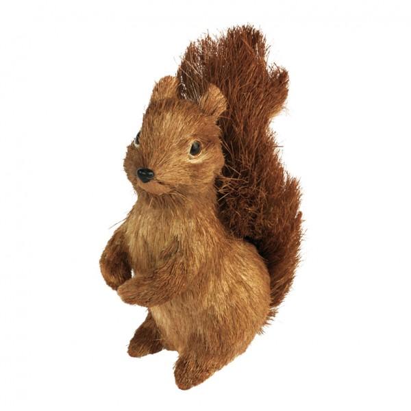Eichhörnchen, 20x9cm, Styrofoam, Stroh