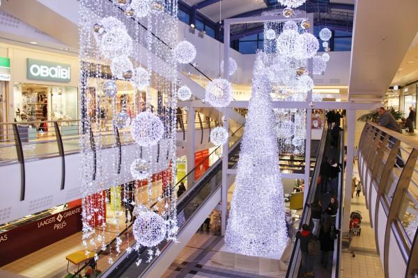 Illuminierter LED-Weihnachtsbaum Manhattan silber
