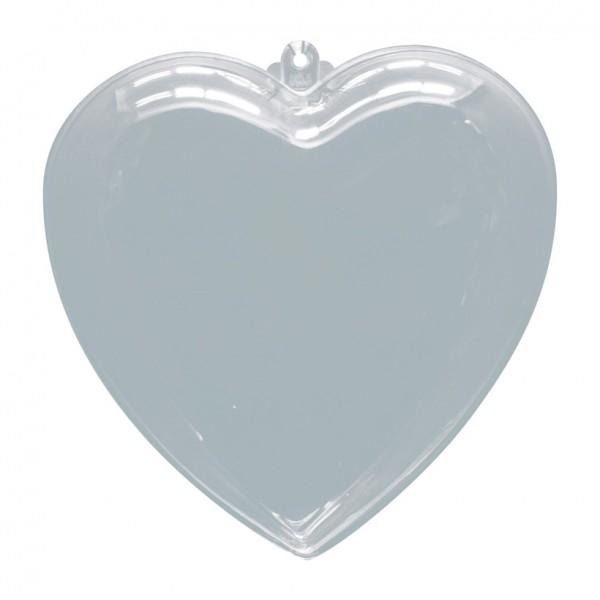 Herz, Ø 6cm, Kunststoff, 2 Hälften, zum Befüllen