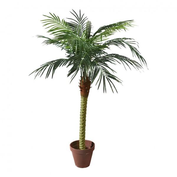 Phoenix-Palme im Topf, 180cm, 11-fach, 523 Blätter, Kunststoff, Kunstseide