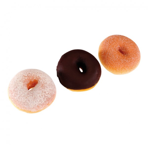 Donuts, Ø 8cm, 3Stck./Btl., sortiert, Schaumstoff
