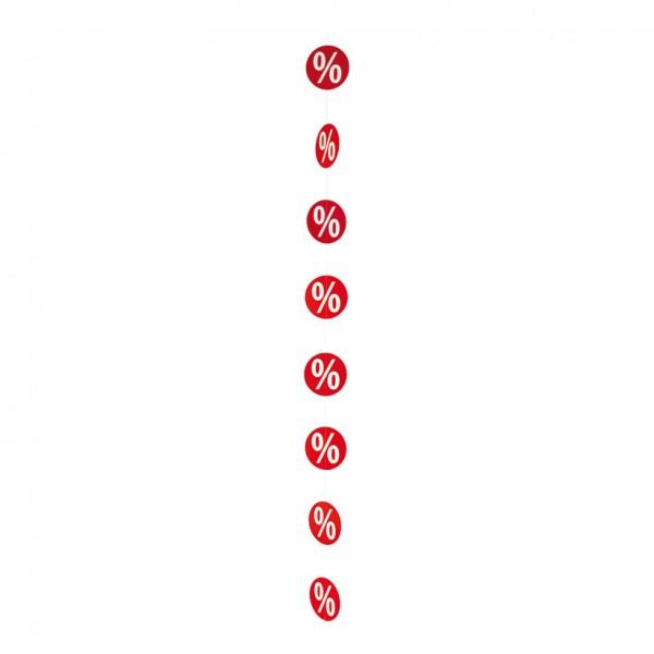 """Kette """"%-Zeichen"""", Ø 15cm, 200cm, doppelseitig, Karton"""