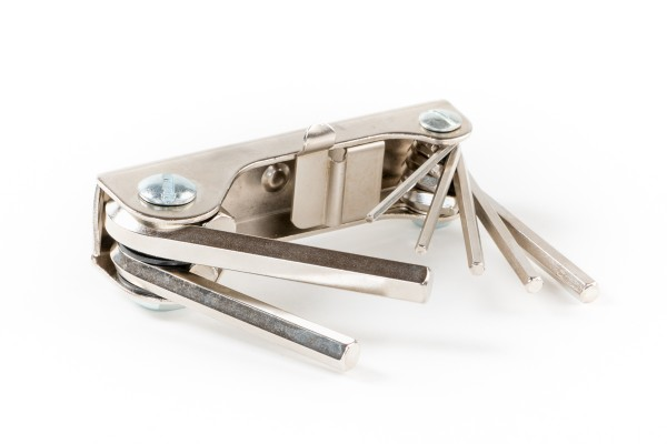Stiftschlüssel-Satz im Handklapphalter
