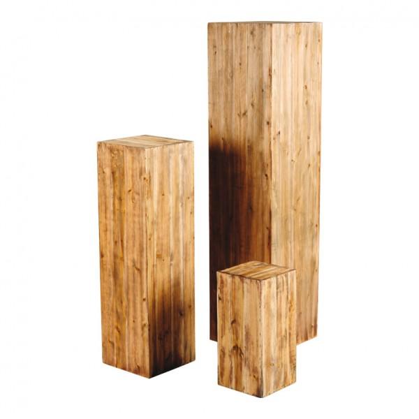 Podeste, 19x19x40cm, 24x24x80cm, 30x30x120cm, 3Stck./Satz, ineinander passend, Holz