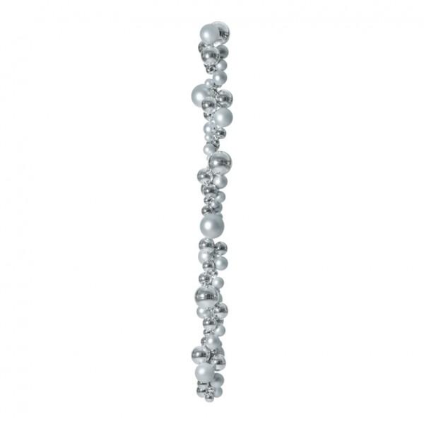 Kugelhänger, Ø 3-10cm, 150cm, matt und glänzend, mit 2 Aufhängehaken, Kunststoff Länge inkl. Haken 1