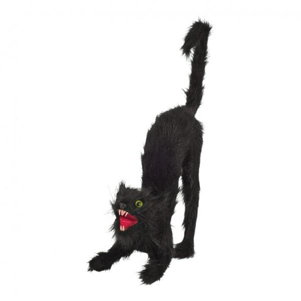 Katze, 40x15cm, angreifend, Styrofoam/Kunstfell
