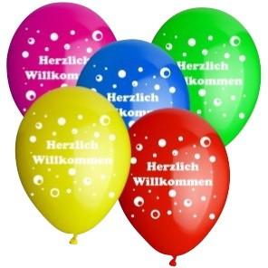 Motiv-Ballon 'Herzlich Willkommen'