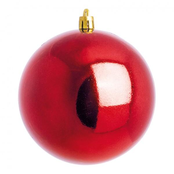 Weihnachtskugeln, rot glänzend, Ø 8cm 6 St./Blister