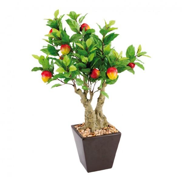 Apfelbäumchen im Topf, 50cm, Kunstseide+Keramik