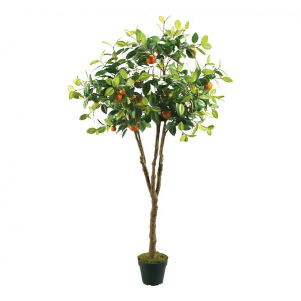 Orangenbaum im Topf, 150cm, Kunststoff, Kunstseide