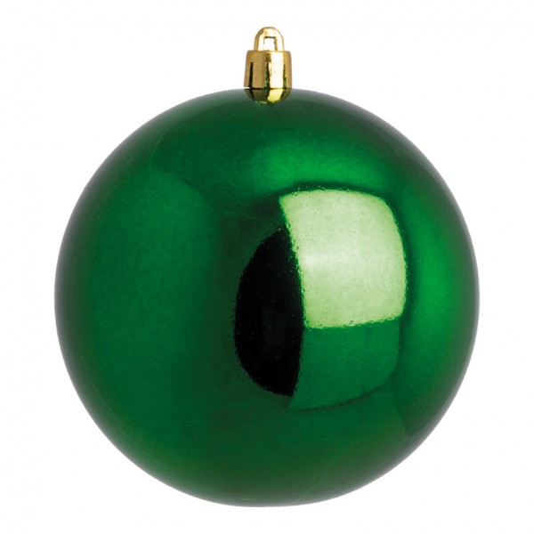 Weihnachtskugel, grün glänzend, Ø 14cm