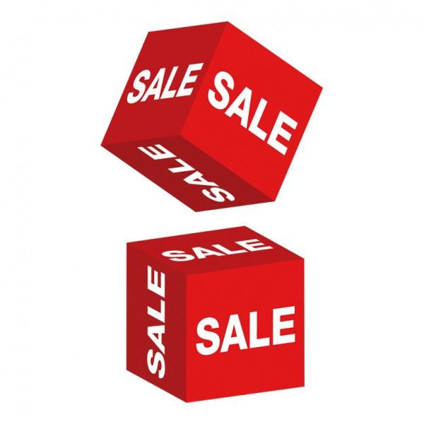 """Würfel """"Sale"""" 10x10x10 cm Karton"""