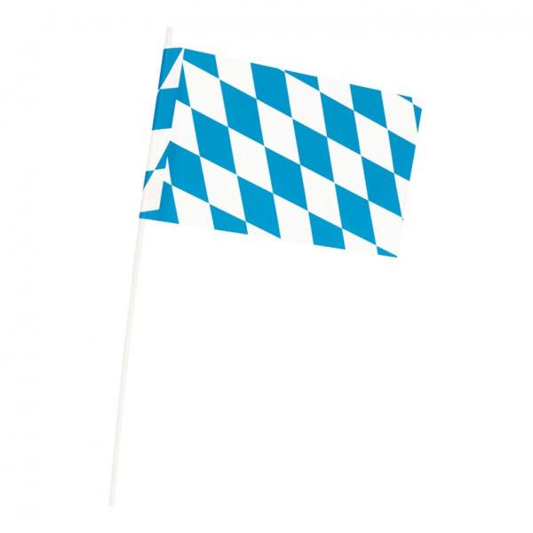 "Fahne ""Bavaria"", 12x22cm, Papier, mit Plastikstiel"