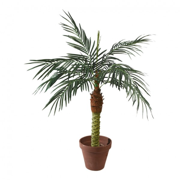 Phoenix-Palme im Topf, 120cm, 8-fach, 328 Blätter, Kunststoff, Kunstseide