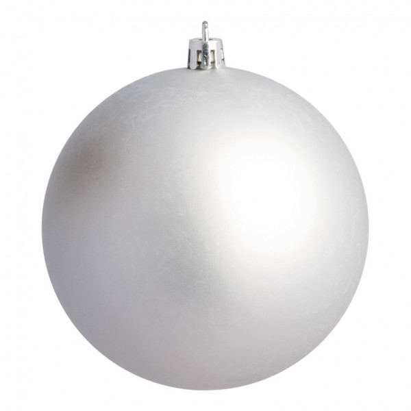 Weihnachtskugeln, silber matt, Ø 6cm 12 St./Blister