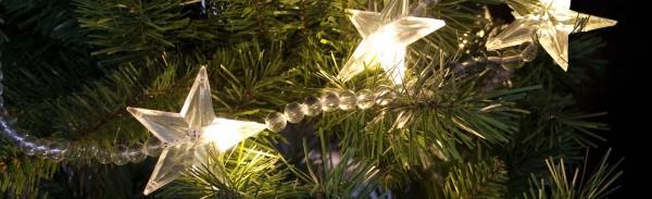 Sternen LED Lichterkette mit Timer - Musterkette