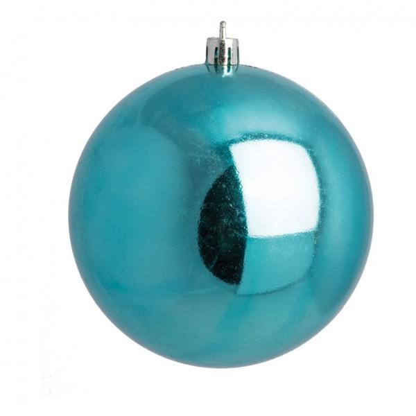 Weihnachtskugeln, aqua glänzend, Ø 8cm 6 St./Blister
