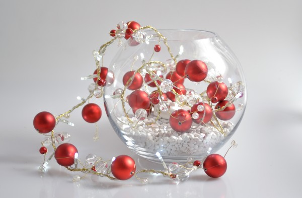 Mini LED Tablelight 'Red Baubles'