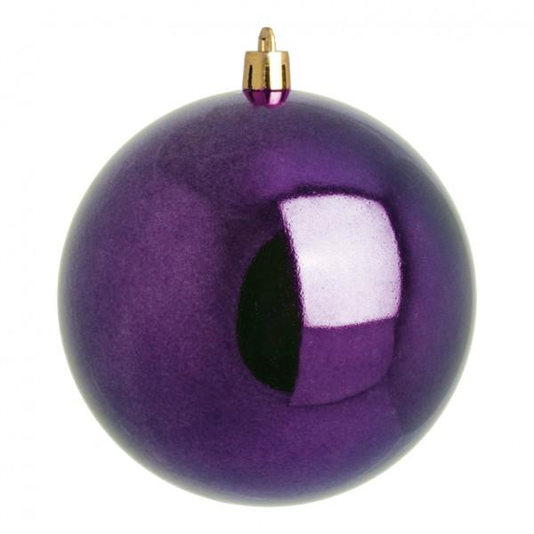 Weihnachtskugeln, violett glänzend, Ø 6cm 12 St./Blister
