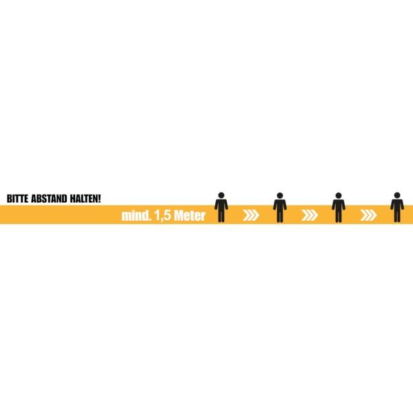 Abstands Klebe-Streifen 'Bitte Abstand halten' - 10 Stück