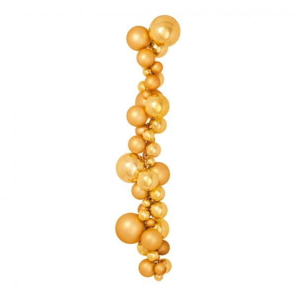 Kugelhänger, Ø 3-10cm, 80cm, matt und glänzend, mit 2 Aufhängehaken, Kunststoff Länge inkl. Haken 10