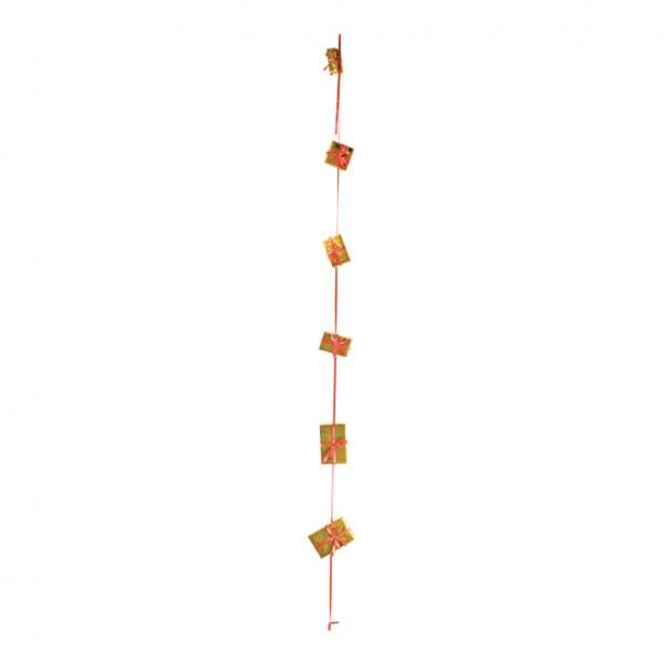 Geschenkpäckchenkette, 270cm, 6-fach, Styrofoam/Folie