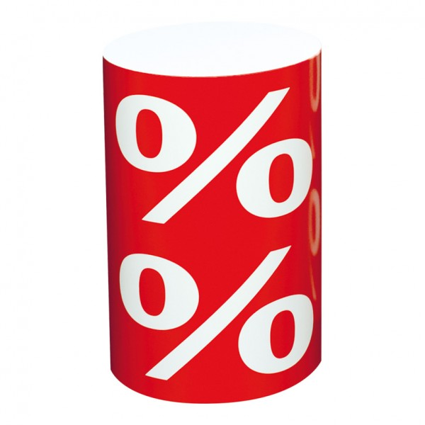 """Präsenter """"%"""" Ø 26 cm Höhe 40 cm Karton"""