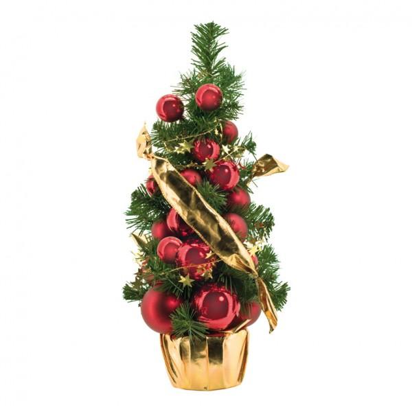 Tannenbaum, 45cm, geschmückt, Kunststoff