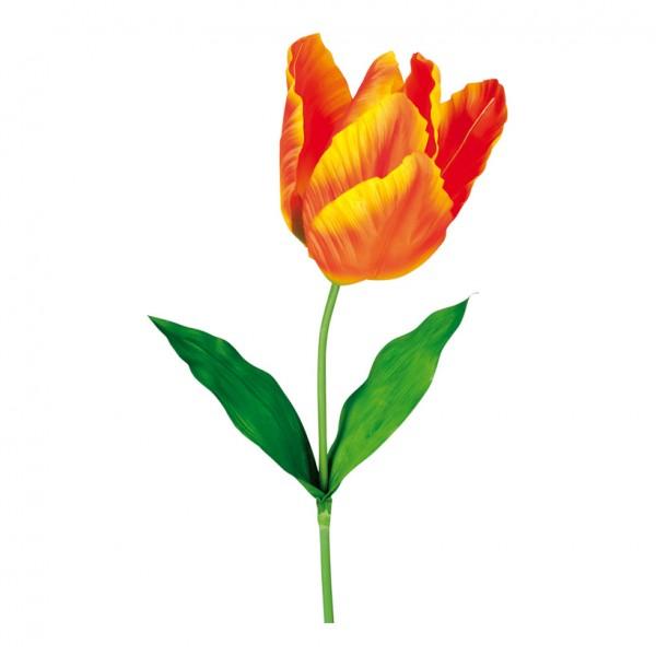 Tulpe am Stiel, Ø 20cm, 130cm, Kunstseide, Kunststoff