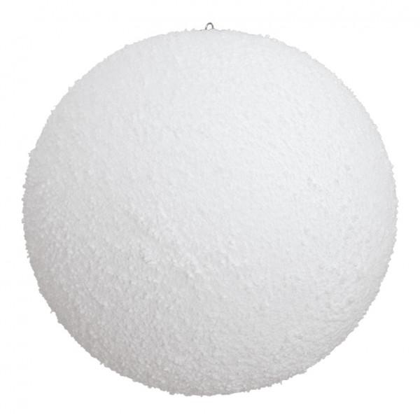 Schneekugel, Ø 15cm, mit Hänger, beflockt