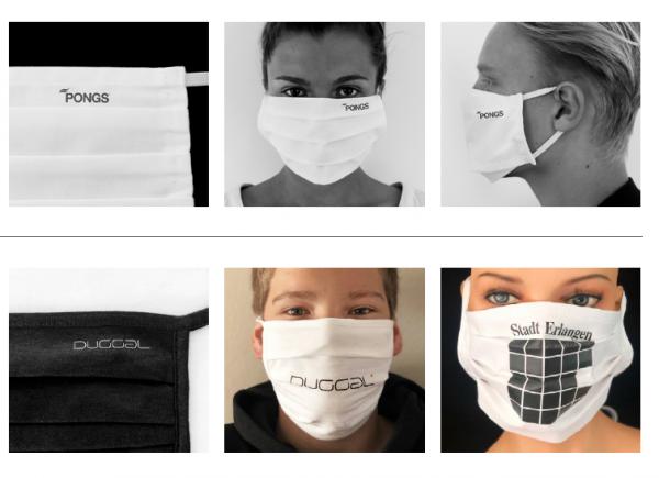 Mundschutz - Behelfsmaske mit Logo - 200 Stück