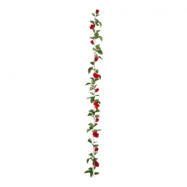 Rosengirlande, Ø 15cm, 180cm, 11-fach, Kunstseide
