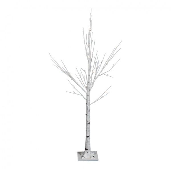 LED-Birkenbaum, 125cm mit 48 LEDs, 24V Trafo, IP44, 5m Zuleitung