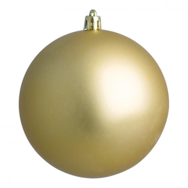 Weihnachtskugel, gold matt, Ø 14cm