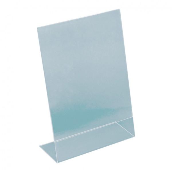 L-Aufsteller, A5, 21x15x7,5cm, Plexiglas