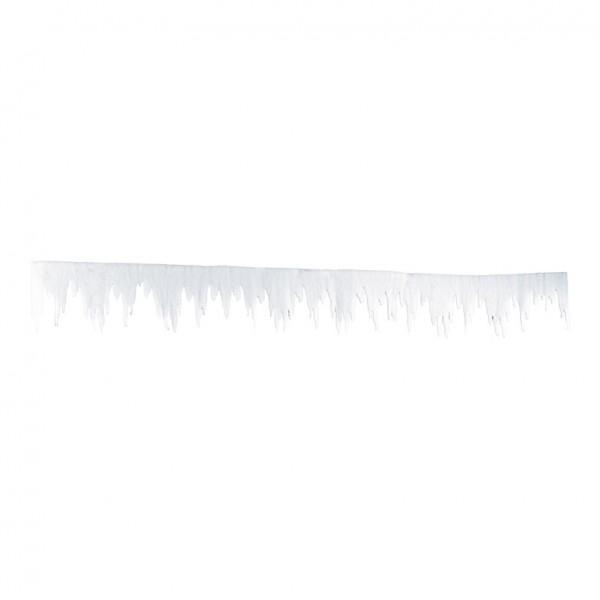 Eiszapfenfries, 500x30cm, aus 2cm Schneematte, schwer entflammbar nach B1
