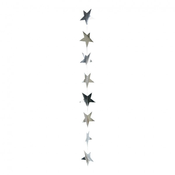 Foliensternkette, ca. Ø 9cm, 200cm, 12-fach, Metallfolie